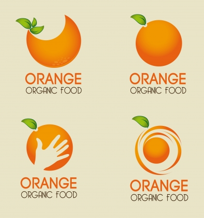 orange cut: orange citrus fruit  over beige background vector illustration