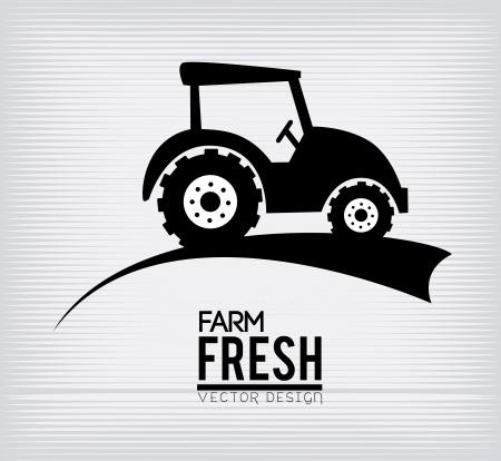 farm fresh label over white background vector illustration Vector