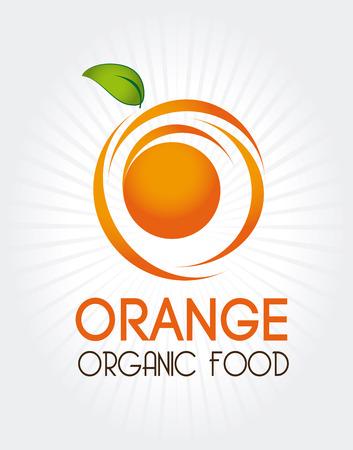 drinkseal: orange citrus fruit  over gray background vector illustration