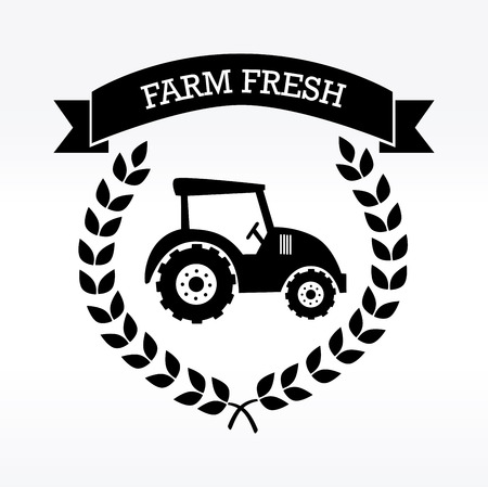 farm fresh label over white background vector illustration Stock Vector - 22453157