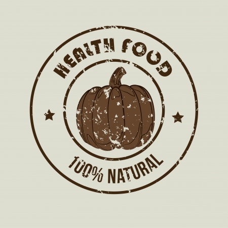 healthy food  label over gray background vector illustration Vector