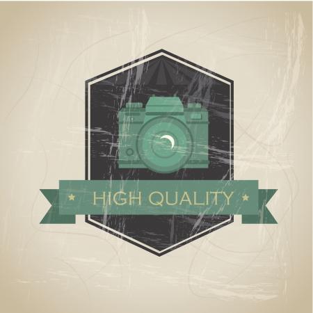hight: hight quality design over beige background vector illustration
