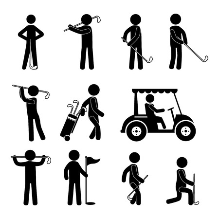 golf bag: golf design over white background vector illustration Illustration