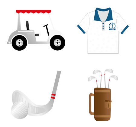 golf design over white background vector illustration Stock Vector - 22453214