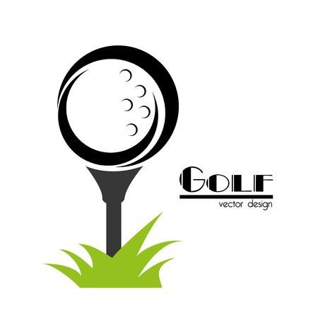 Conception de golf sur fond blanc illustration vectorielle Banque d'images - 22453229