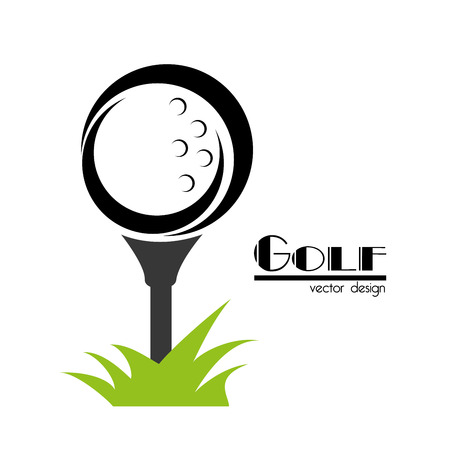 Disegno di golf su sfondo bianco illustrazione vettoriale Archivio Fotografico - 22453229