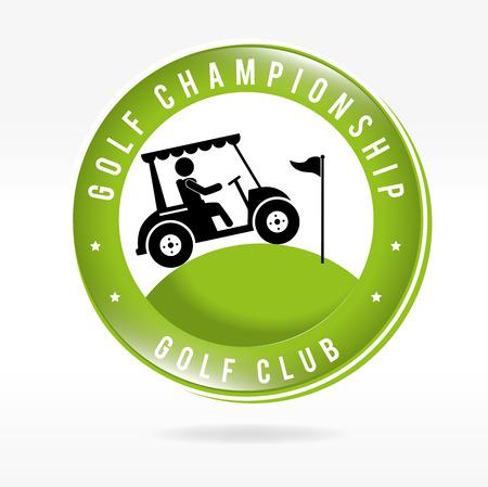 golf cart: golf design over white background vector illustration Illustration