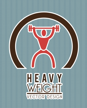over weight: heavy weight over blue background vector illustration