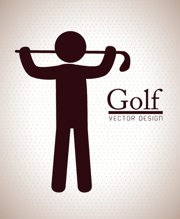 golf design over beige background vector illustration
