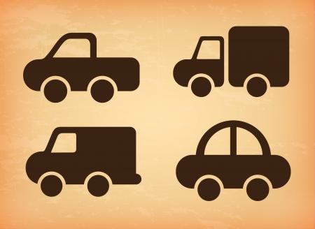 coachwork: cars design over pink background vector illustration