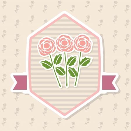 obituary: roses design over floral background vector illustration   Illustration