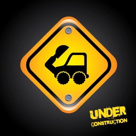 under construction over black background  vector illustration Vector