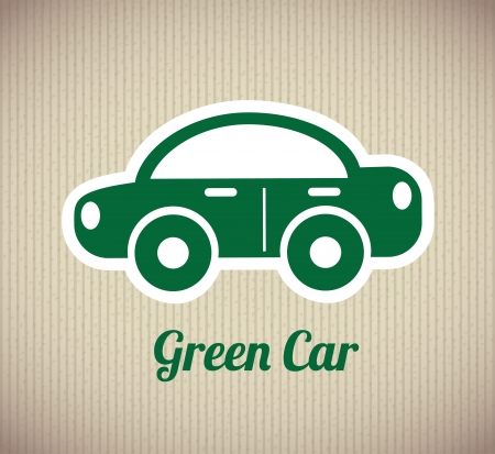 green car design over lineal background vector illustration Stock Vector - 22464768