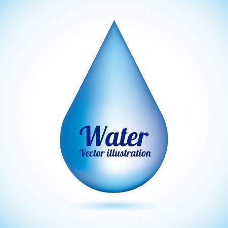 ahorrar agua: natural del agua sobre fondo azul ilustración vectorial