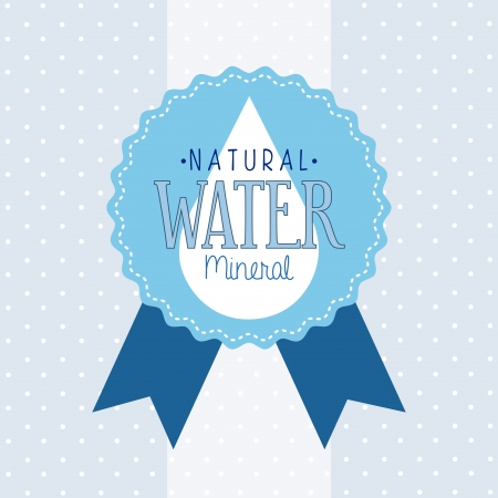 natural water over dotted background vector illustration Stock Vector - 22464836