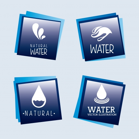 natural water over blue background vector illustration Vector
