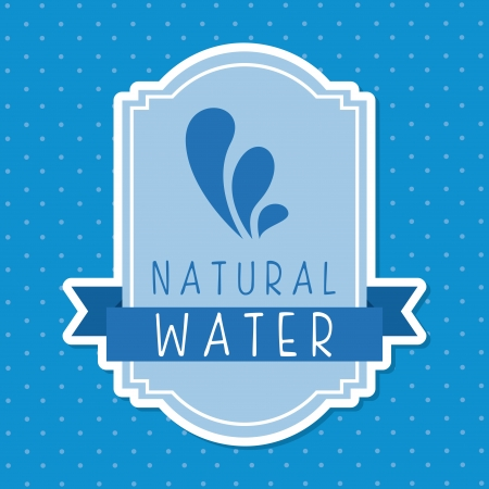 natural water over dotted background vector illustration