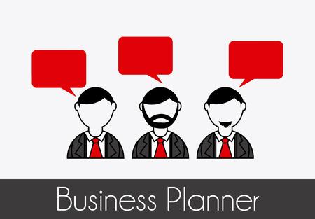 business planner over gray background vector illustration Vector