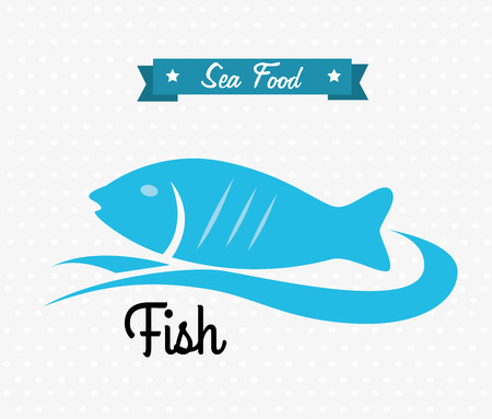 sea food over white background vector illustration  Vector