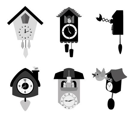 time icons over white background vector illustration Illustration