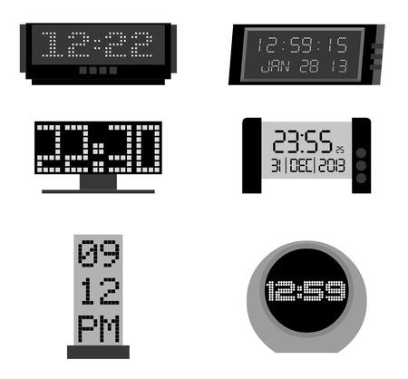 establish: time icons over white background vector illustration Illustration
