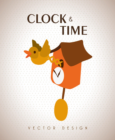 time design  over beige background vector illustration Vector