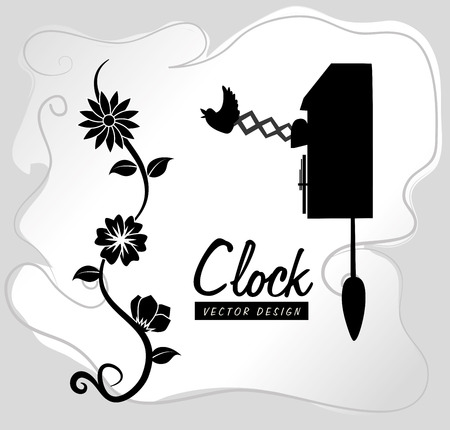 time design  over gray background vector illustration Vector