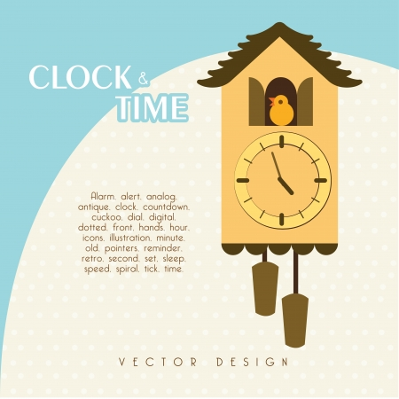 time design  over blue and white background vector illustration Vector