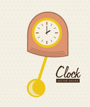 time design  over pink background vector illustration  Vector