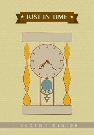 just in time: just in time design  over beige background vector illustration Illustration
