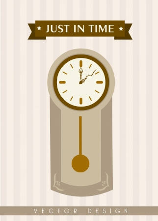just in time: just in time design  over lineal background vector illustration