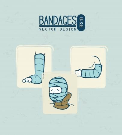 immobilize: medical design over blue background vector illustration  Illustration