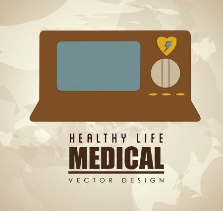 operating room: dise�o m�dico sobre fondo de ilustraci�n vectorial Vectores