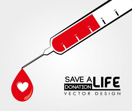 donations: medical design over white background vector illustration