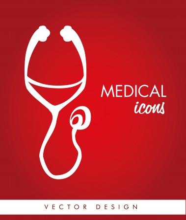medical design over red background vector illustration   Vector