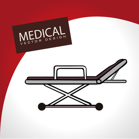 medical design over red and white  background vector illustration  Vector
