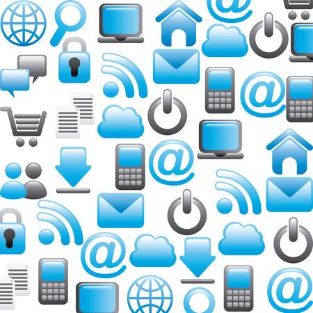 internet icons over white background vector illustration Иллюстрация