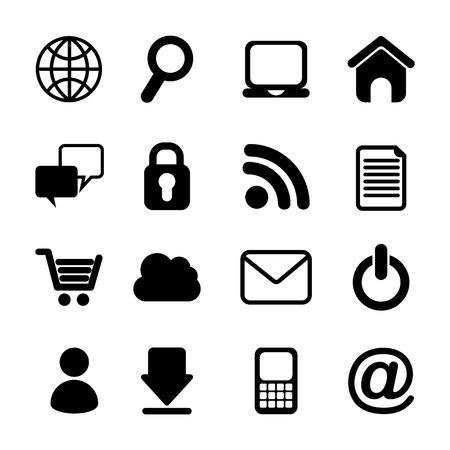 internet icons over white background vector illustration Illustration