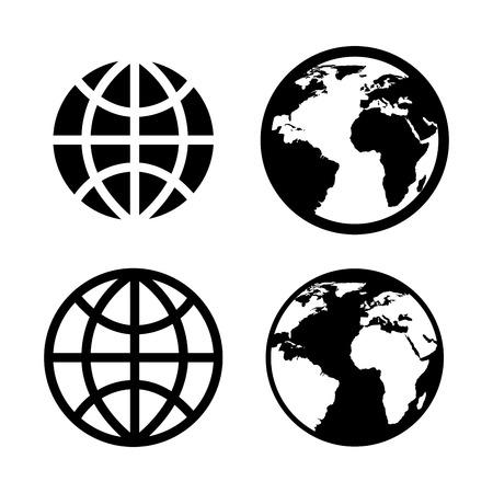 www: internet icons over white background vector illustration Illustration