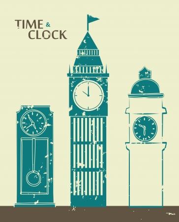 establish: time design  over beige background vector illustration
