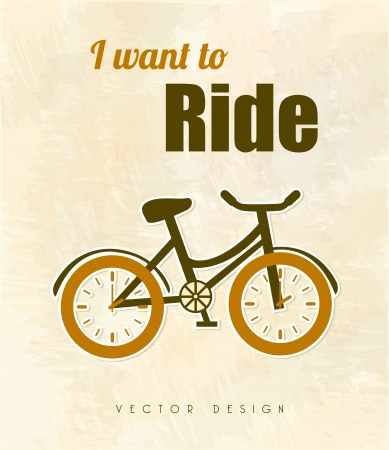 i want to ride over vintage background vector illustration  Vector