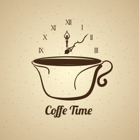 time over: coffee time over pattern  background vector illustration