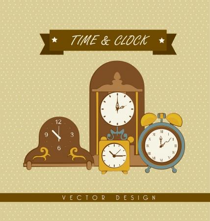 establish: time design  over dotted background vector illustration