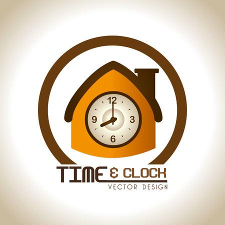 establish: time design  over bronze background vector illustration