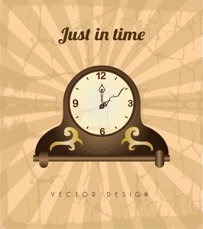 establish: time design  over grunge background vector illustration