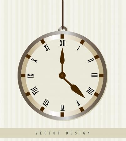 establish: time design  over lineal background vector illustration