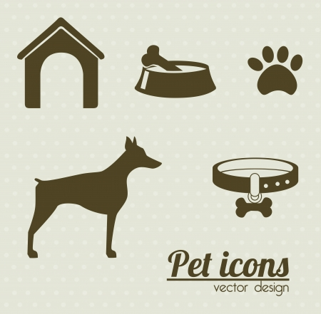 pet icons over dotted background vector illustration Vector