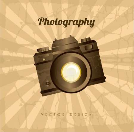 photography camera design over grunge background vector illustration   Stock Vector - 22589656