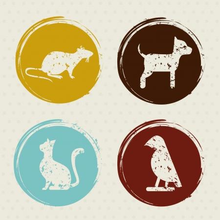 pets design  over dotted background vector illustration  Vector