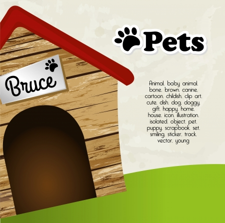 pets: pets design  over sky background vector illustration